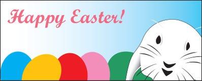 加州看板卡逗人喜爱的e复活节极大的快速兔子 库存图片