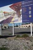 加州金线路蒙罗维亚站点岗位 免版税图库摄影