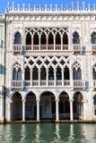 加州D'Oro,一个著名宫殿在威尼斯 库存图片