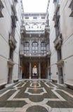 加州Rezzonico,庭院在公开博物馆,威尼斯 免版税库存照片