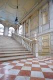 加州Rezzonico,楼梯在公开博物馆,威尼斯 图库摄影