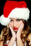 加工好的圣诞老人生气妇女 库存照片