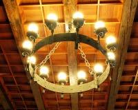 加工枝形吊灯的铁 库存图片