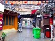 更加干净的清洗的Tianzifang胡同 库存照片