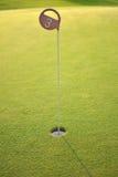添加广告区高尔夫球漏洞远足正确的文本 免版税库存照片