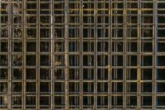加强笼子与加入纵向和横向增强 免版税库存图片