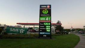 加德士加油站汽油价格 影视素材