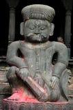 加德满都尼泊尔雕象 图库摄影