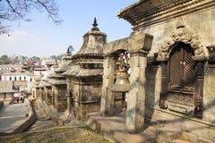 加德满都尼泊尔pashupatinath寺庙 库存照片