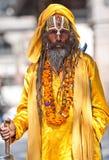 加德满都尼泊尔sadhu shaiva 图库摄影