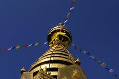 加德满都尼泊尔stupa swayambhunath 库存照片