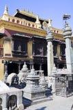 加德满都尼泊尔swayambunath寺庙 库存照片