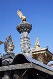 加德满都尼泊尔swayambunath寺庙 免版税库存图片
