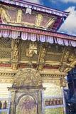 加德满都尼泊尔swayambunath寺庙 图库摄影