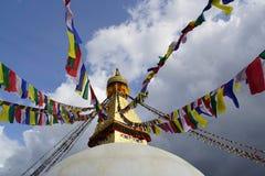 加德满都stupa 库存图片