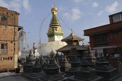 加德满都stupa swayambhu 免版税库存图片