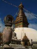 加德满都stupa swayambhunath 免版税库存图片