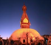 加德满都塔swayambhu谷 免版税图库摄影