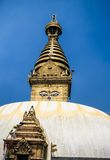 加德满都尼泊尔stupa swayambhunath 免版税库存照片