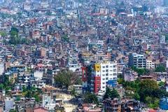加德满都市在尼泊尔 库存图片