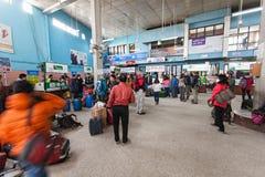 加德满都机场内部 免版税库存照片