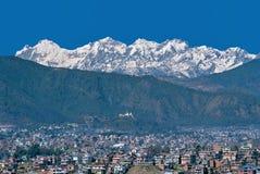 加德满都谷地& Ganesh Himal,尼泊尔 免版税库存照片