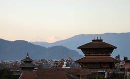 加德满都,尼泊尔屋顶  免版税库存图片
