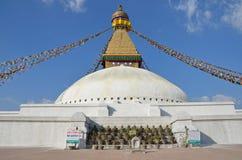 加德满都,尼泊尔, 2012年10月, 26日,最大的佛教stupa是Boudhanath (Bodnath) 库存图片