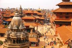 加德满都,尼泊尔- 2013年6月:Patan Durbar广场 库存图片