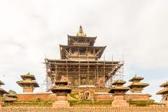 加德满都Durbar广场尼泊尔寺庙  库存照片