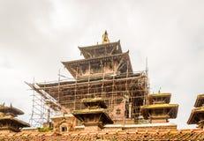 加德满都Durbar广场尼泊尔寺庙  库存图片
