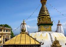 加德满都stupa swayambhunath 图库摄影