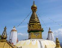 加德满都stupa swayambhunath 库存图片