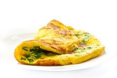 加扰的香葱鸡蛋 库存图片
