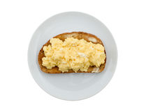 加扰的鸡蛋 免版税库存照片