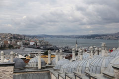 加拉塔和Karakoy区在伊斯坦布尔市 图库摄影