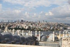 加拉塔和Karakoy区在伊斯坦布尔市 免版税库存照片