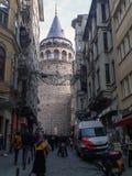 加拉塔塔在Beyoglu伊斯坦布尔 库存照片