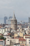加拉塔塔在Beyoglu,伊斯坦布尔市 免版税库存照片