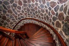 加拉塔塔楼梯 免版税库存照片