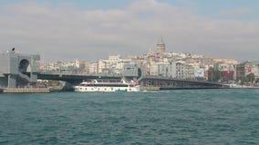 加拉塔耸立,伊斯坦布尔市,土耳其12月2016年, 股票录像