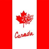 加拿大与被隔绝的元素的字法商标 拉长的现有量 库存图片