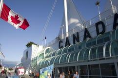 加拿大中心常规位置贸易温哥华 库存图片
