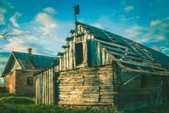 加拿大乡间别墅街道多伦多 老房子 被放弃的房子 免版税图库摄影