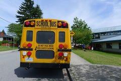 加拿大人台中国小公共汽车 免版税图库摄影