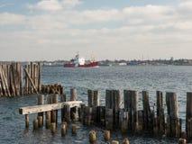 加拿大人海岸卫队船 图库摄影