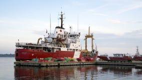 加拿大人海岸卫队船Griffon,普里斯科特,安大略 免版税库存照片