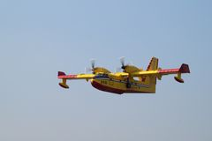 加拿大人的CL-215 库存照片