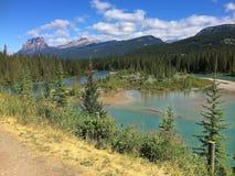 加拿大人罗基斯-惊人的湖视图 免版税库存图片