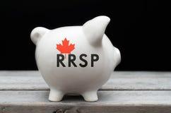 加拿大人登记的退休储款 免版税库存照片